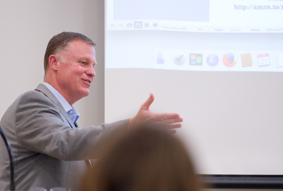 Matt Patterson wowed the crowd with innovative ways to drive book sales.