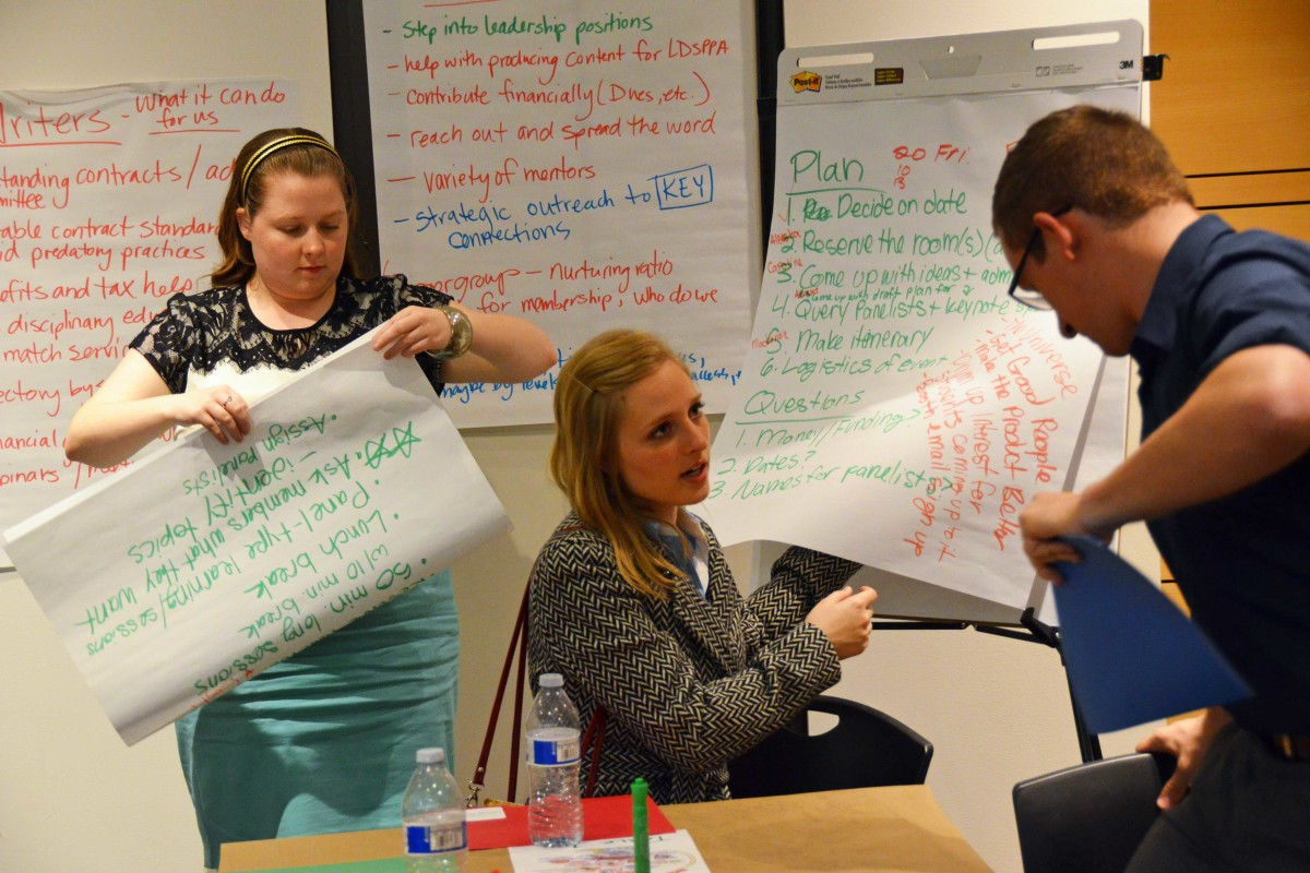 Annual Events committee members brainstormed ideas for future conferences