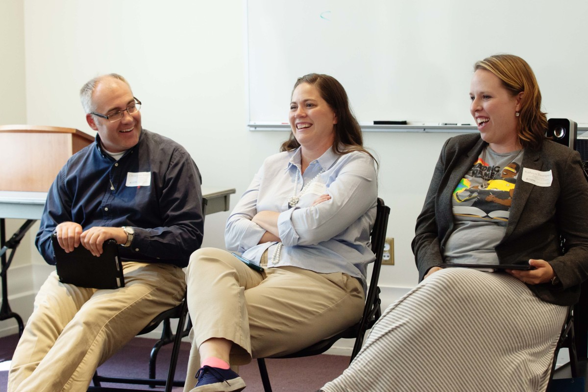 Christopher Robbins (Familius), Sabine Berlin (writer/editor), and Kathryn Thompson (dropsofawesome.com) led a discussion on finding that sweet spot in balancing work and family life.